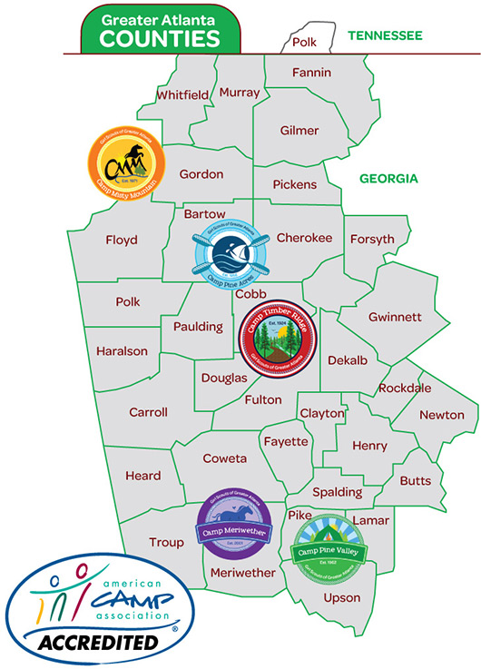Greater Atlanta Counties Map