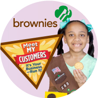 Brownie Cookie Rally Badge