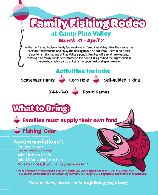 Family Fishing Rodeo Weekend March 31 April 2 2017